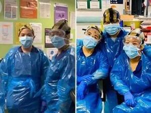 Infermiere indossano sacchi della spazzatura perché non ci sono dpi: ora hanno il coronavirus