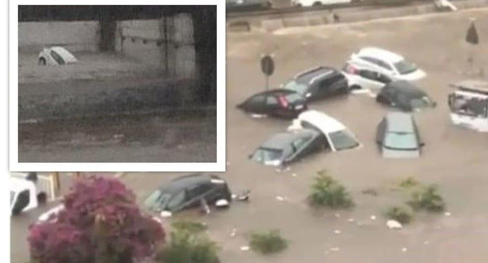 ++ULTIM'ORA++ Palermo choc, bomba d'acqua: due morti annegati dentro un'auto nel sottopasso. Due fratellini in ospedale